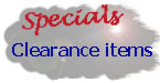 Special clearance items
